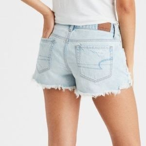 American Eagle Distressed Tom Girl Shortie Shorts